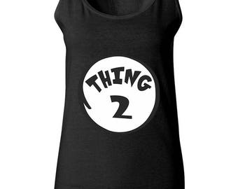 Thing 2 The Most Popular Funny Women Tank Tops Sleeveless Tops Best Seller Designed Women Tanks