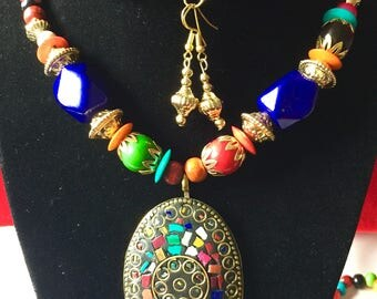 Rumtix 1023 Central-South American Design, Pendants with Earrings
