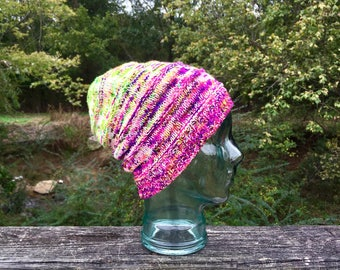 Bright Wool Slouchy Knit Hat