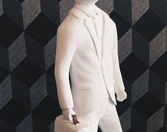 Sculpture businessman