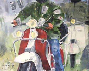 Original acrylic painting entitled '60s Mod'