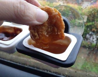 Dip Clip with suction cup | Car Dip Holder | Sauce Dipper | Sauce Container |Sauce holder|Car accessory|Dipclip|szechuan sauce|little dipper