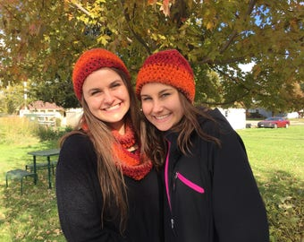 Slouch hats and scarf