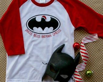 Jingle Bells Batman Smells Raglan Shirt