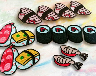 suchi patch/food patch/gorgeous /exqusite/embroidered /iron on /DIY/patch for jacket /high quality