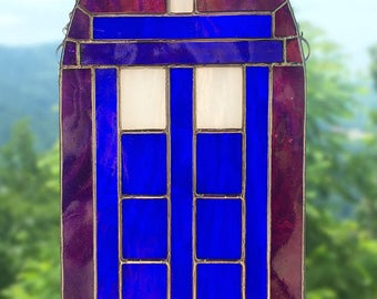 Doctor Who TARDIS  - Original Stained Glass