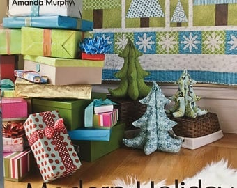 Modern Holiday - Deck the Halls with 18 sewing projects - quilts, stockings, decoration & more by Amanda Murphy