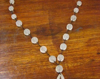 Ancient necklace r. LALIQUE glass beads 1920 signed