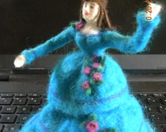 Needle felted wool doll