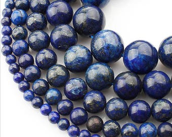 SALE! 6mm Lapis Lazuli Natural Stone Beads Stone Round Loose Beads Gemstone Bead Supply