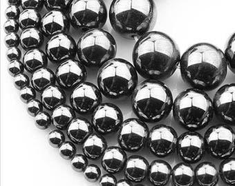 SALE! 8mm Hematite Natural Stone Beads Stone Round Loose Beads Gemstone Bead Supply
