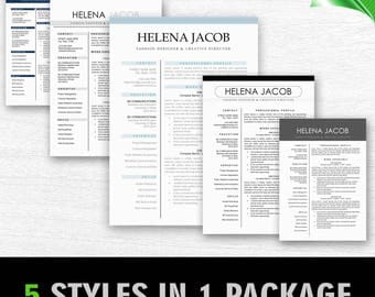 Resume Template 3 page | CV Template + Cover Letter for MS Word | Instant Digital Download | Resume Template Bundle
