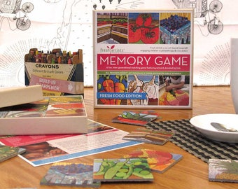 Memory Game: Fresh Food Edition - An intergenerational matching game for kids & adults on a social justice mission.