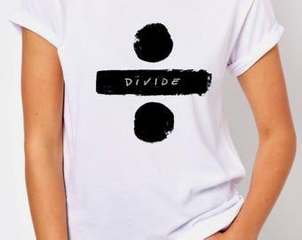 T-SHIRT DIVIDE Ed SHEERAN / tshirt music / tee  album / tshirts perfect  / tees lovers / tshirt gift / fans / fashion / top