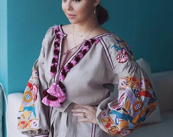 Trapeze Dress Bohemian Dresses Ethnic Ukrainian Embroidery Ukraine Boho Dress Boho chic Clothing Vyshyvanka Dress Vishivanka Abaya Dubai