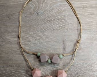 Silicone Baby Teething Necklace
