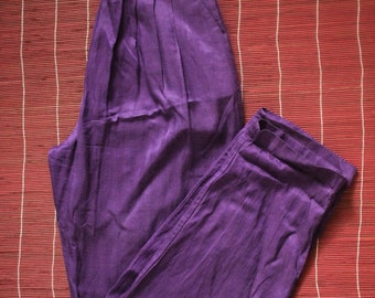 Purple High Waisted Trouser, Vintage, S / XS (roughly)