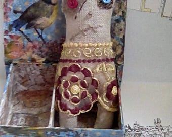 Primitive style soft sculpture handmade