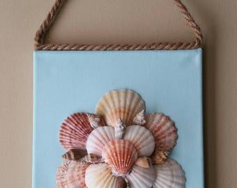 8x10 Canvas Seashell Wall Art