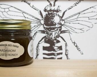 10oz Raw Untilitred Cardamom Infused Honey