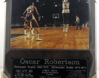 Oscar Robertson Milwaukee Bucks plaque