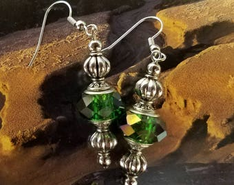 Elegantly Green And Silver