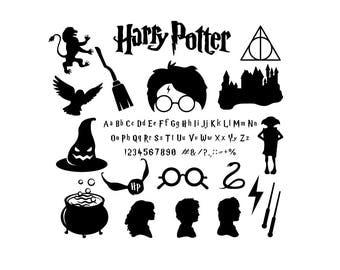 Harry Potter svg files Harry Potter font Harry Potter Pack for Silhouette  Circut Harry Potter Svg