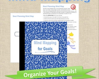 Printable Mind Map Planner Pages for Setting Goals, Goal Setting Planner Pages Goals Planner PDF, Goal Planner Inserts, Productivity Planner