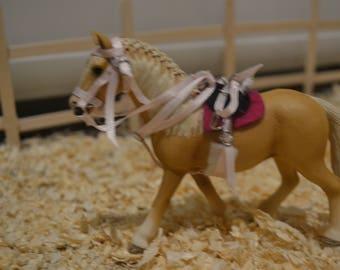 Handcrafted Schleich riding set