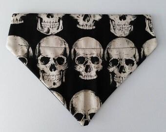 Skull Print Dog Bandana (s)