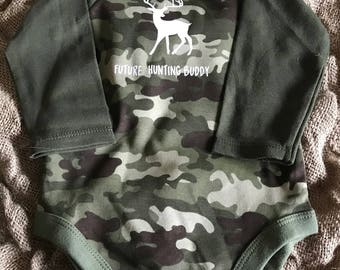 Future Hunting Buddy baby body suit