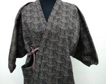 Japanese haori kimono Brown kimono jacket /kimono cardigan/kimono robe/#005