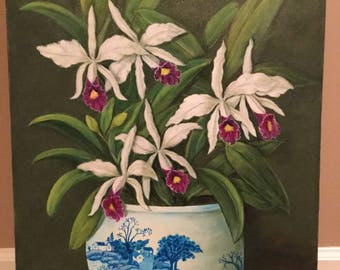 Orchids in Chineese Vase