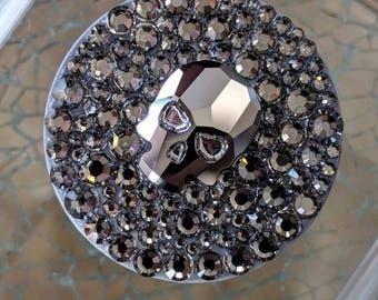 Swarovski Silver Night Skulls  with Black Diamonds PopSocket