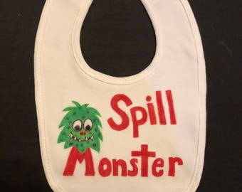 Spill Monster Bib