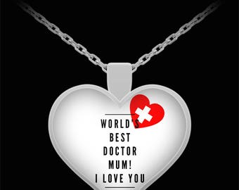 WORLD'S BEST Doctor Mum! Silver Plated Necklace