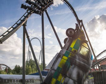 The Swarm Rollercoaster Print Photograph Photo