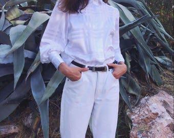 Vintage ice white plaid patterned shirt