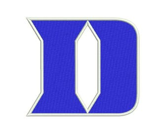 7 SIZE Duke Blue Devils football Embroidery Designs Football Embroidery Designs Football Logo PES Embroidery Football Applique