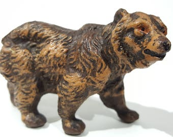 Antique Pre-war Japan Composition Painted Bear Figurine - Elastolin Lineol