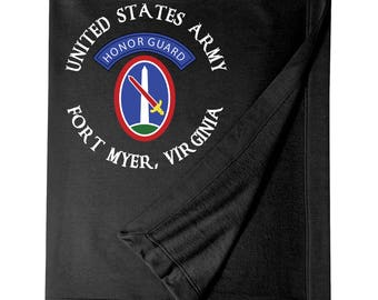 U.S. Army Honor Guard Embroidered Blanket-7635