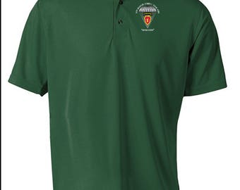 25th Infantry Division (Airborne) -Embroidered Moisture Wick Polo Shirt -6895