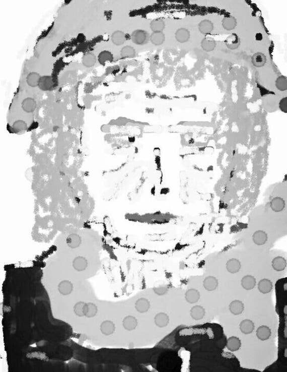 Miss Emm Fine Art Print - watercolour print