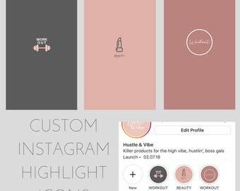 Custom Instagram Highlight Graphics