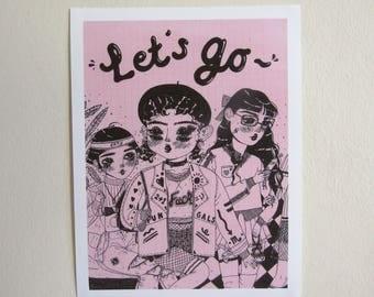 Digital Print - 'Let's Go'