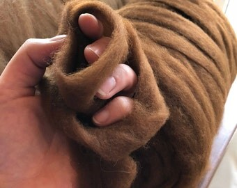 Premium Grade 0 Natural Colors Paco-Vicuna Roving- Sold by the Ounce- for Spinning, Knitting, Crochet, Weaving, Textiles, Fiber Arts