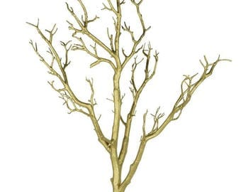 3 FT. Gold Tree Manzanita Crystal Tree Potted Wedding Wishing Event Bridal Baby Shower Anniversary Centerpieces Faux Fake Tree Gold Decor