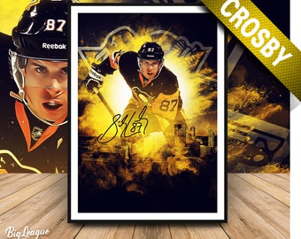 Sidney Crosby poster - Sidney Crosby print - Pittsburgh Penguins - Digital Oil painting -Man Cave - Instant digital download