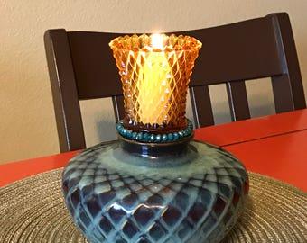 Emerald Gold Candleholder