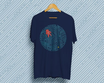 Space Maze T-Shirt - Aesthetic Art